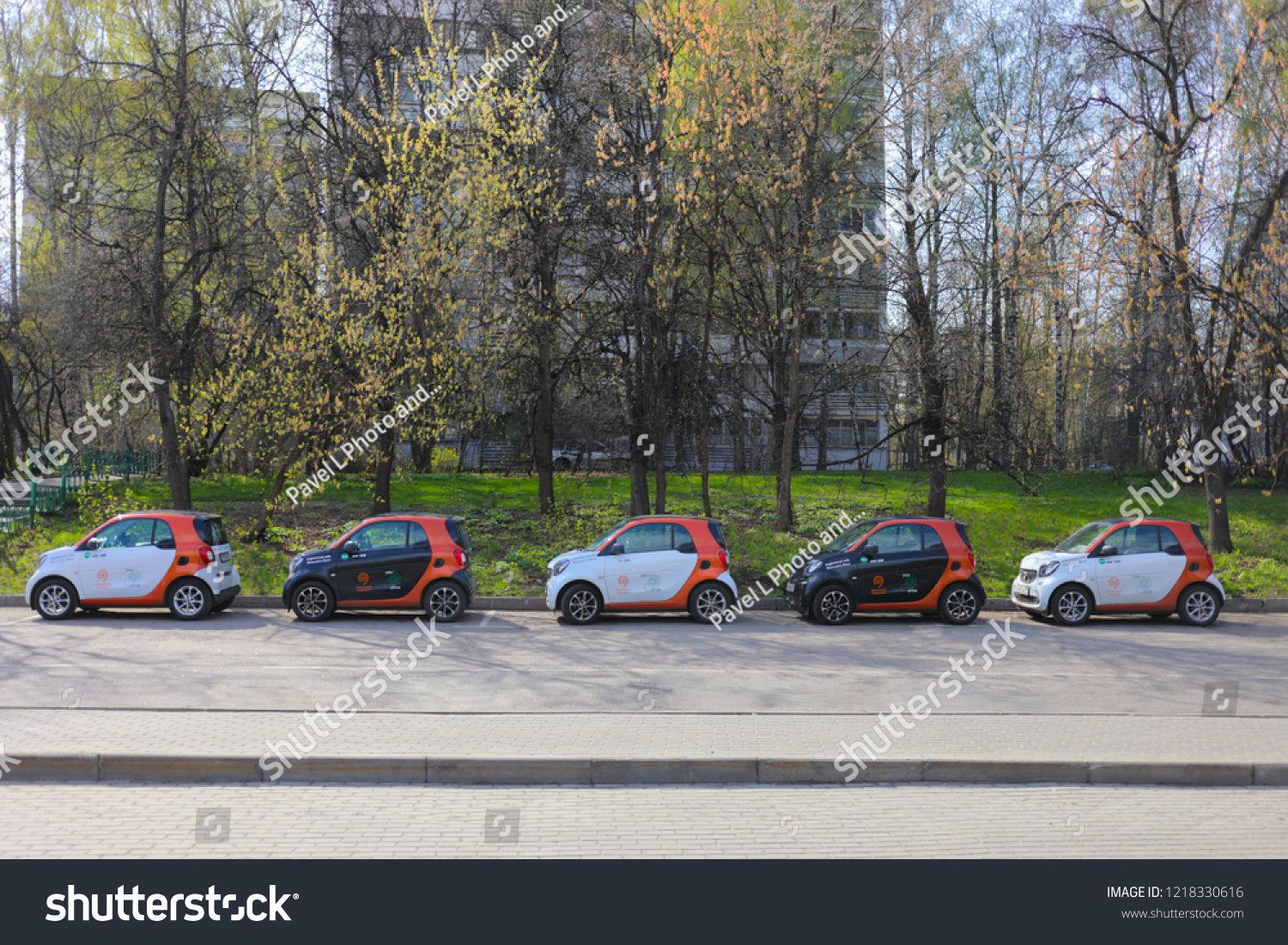Moscow Apr 30 2018 Five Black Stock Photo Edit Now 1218330616