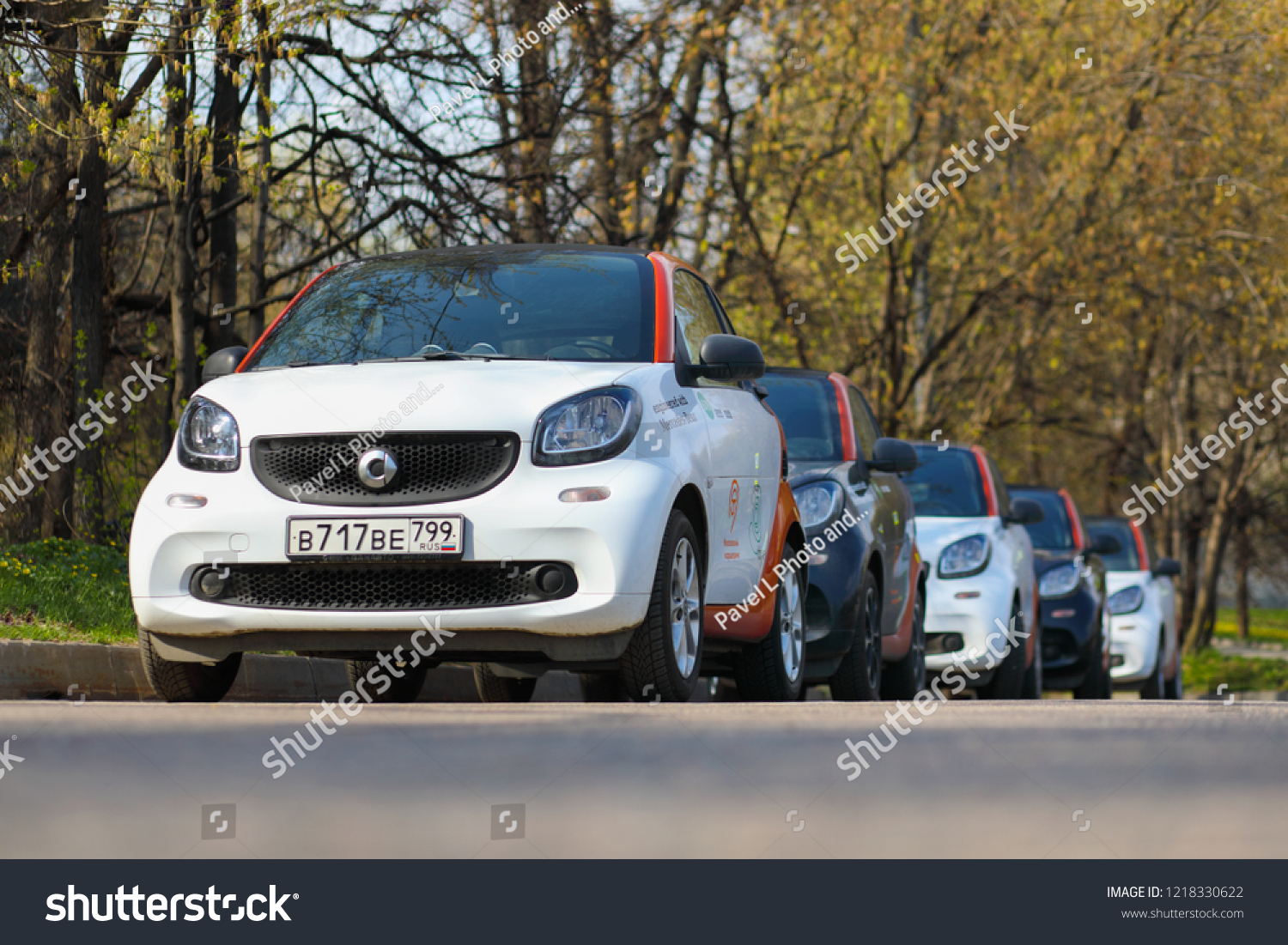 Moscow Apr 30 2018 Five Black Stock Photo Edit Now 1218330622