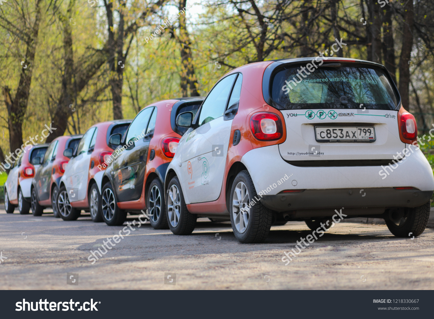 Moscow Apr 30 2018 Back Five Stock Photo Edit Now 1218330667