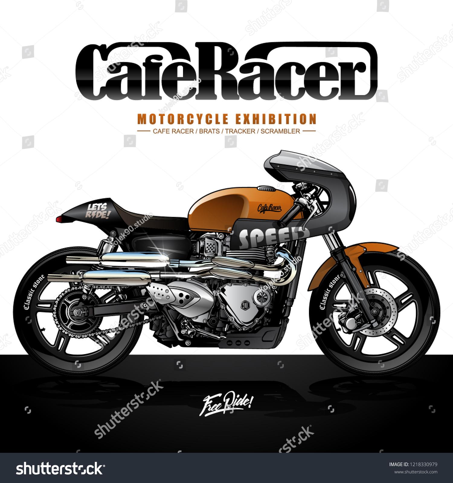 Vector De Stock Libre De Regalias Sobre Vintage Cafe Racer Poster Design1218330979