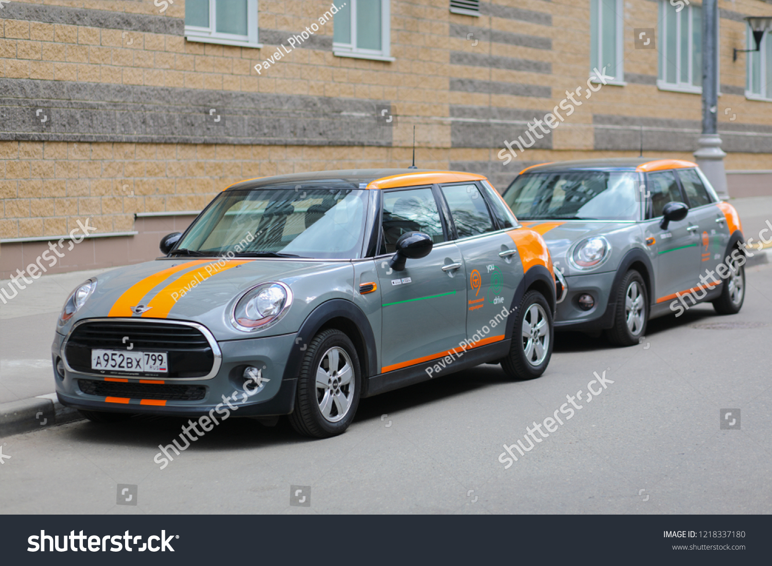 Moscow Apr 29 2018 Two Grey Stock Photo Edit Now 1218337180