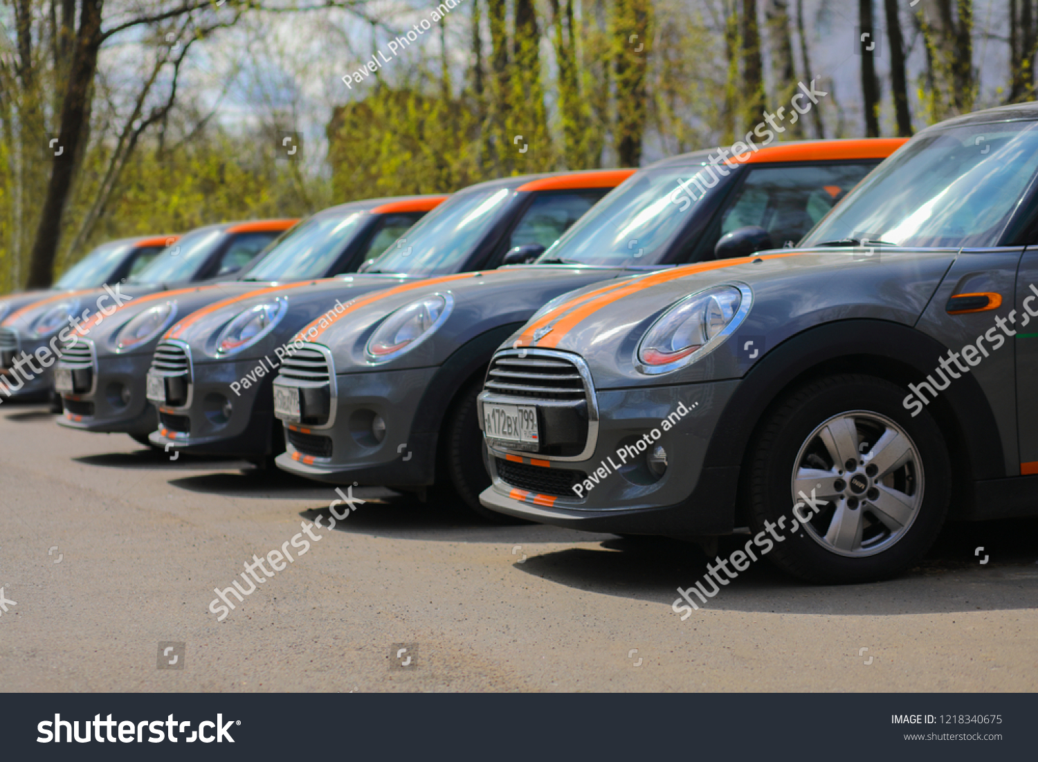Moscow Apr 29 2018 Five Bmw Stock Photo Edit Now 1218340675