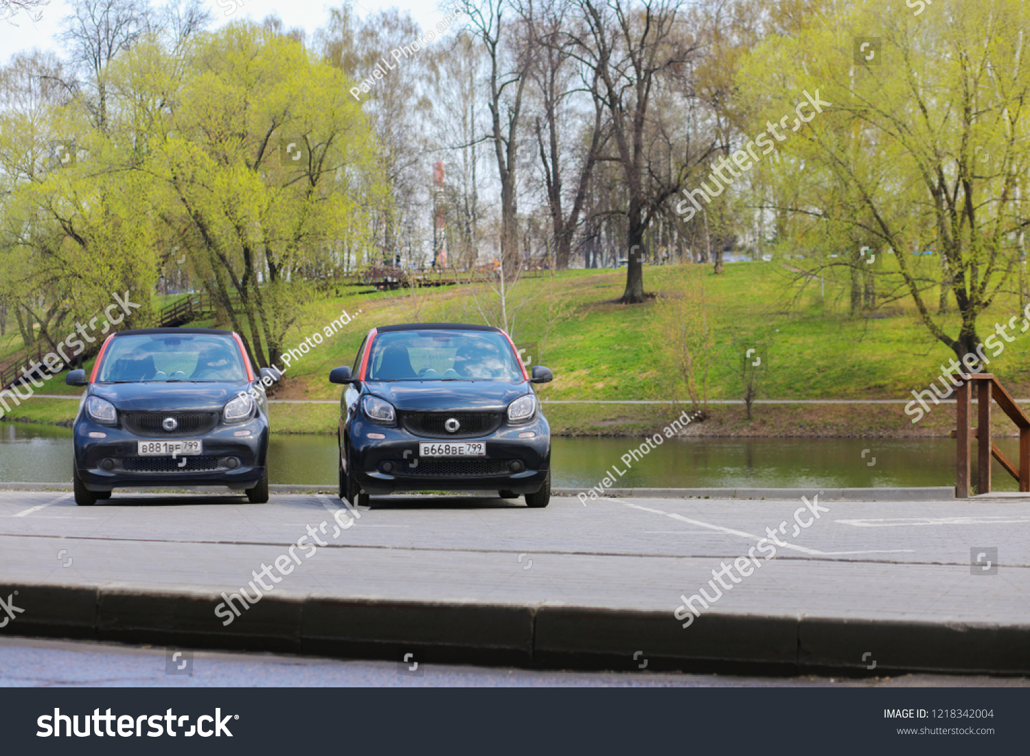 Moscow Apr 30 2018 Two Mercedes Stock Photo Edit Now 1218342004