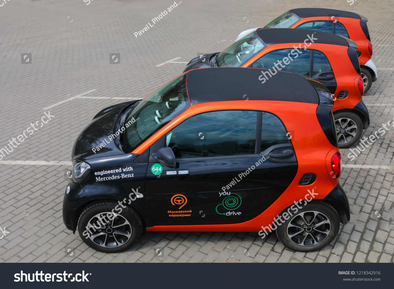 Moscow Apr 30 2018 Three Mercedes Stock Photo Edit Now 1218342916