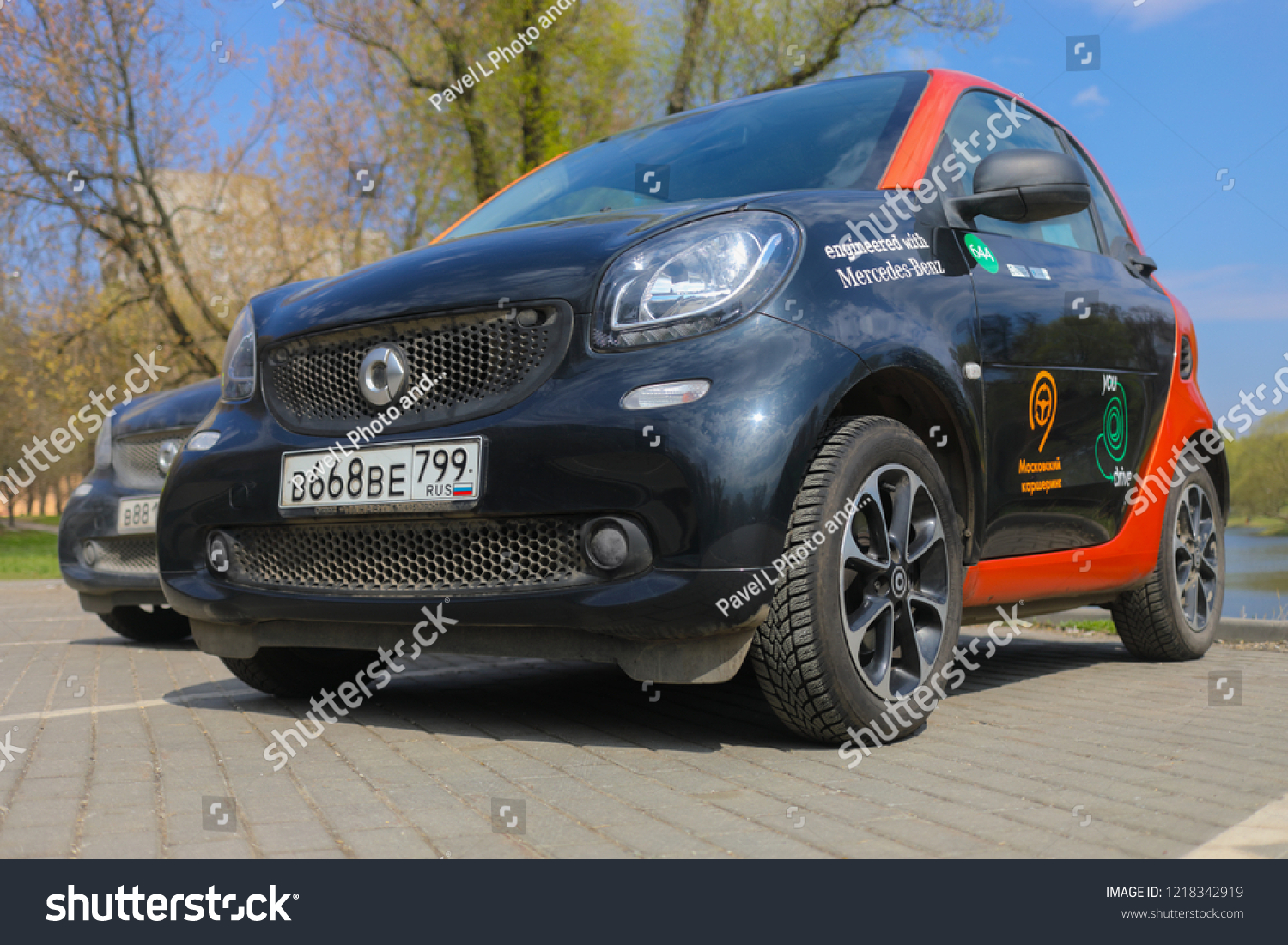 Moscow Apr 30 2018 Two Mercedes Stock Photo Edit Now 1218342919