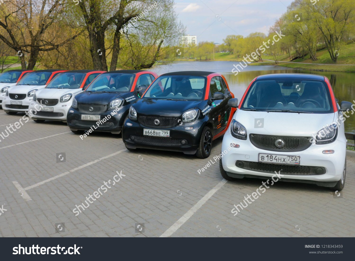 Moscow Apr 30 2018 Six Mercedes Stock Photo Edit Now 1218343459