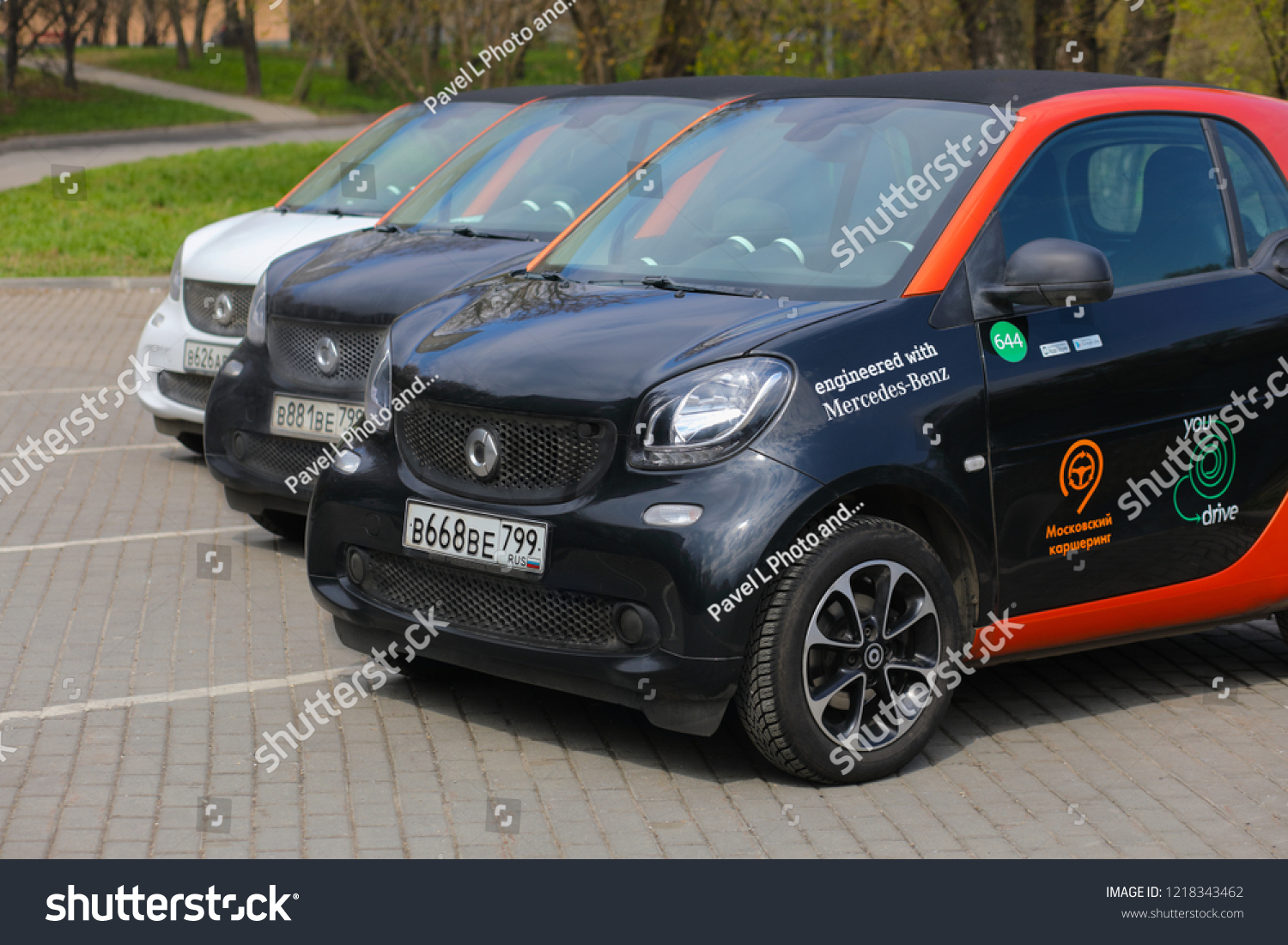 Moscow Apr 30 2018 Three Mercedes Stock Photo Edit Now 1218343462