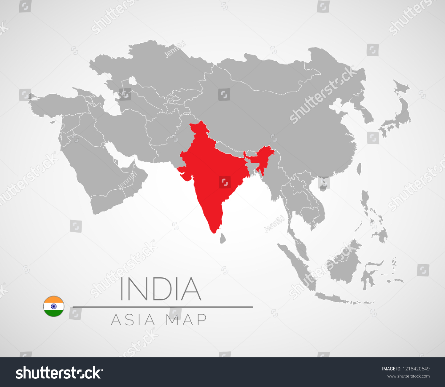 India In Asia Map.Map Asia Identication India Map India Stock Vector Royalty Free