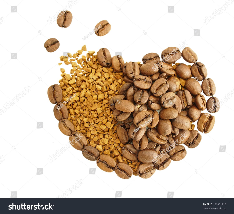coffee broken heart granules instant coffee stock photo 121851217 shutterstock. Black Bedroom Furniture Sets. Home Design Ideas