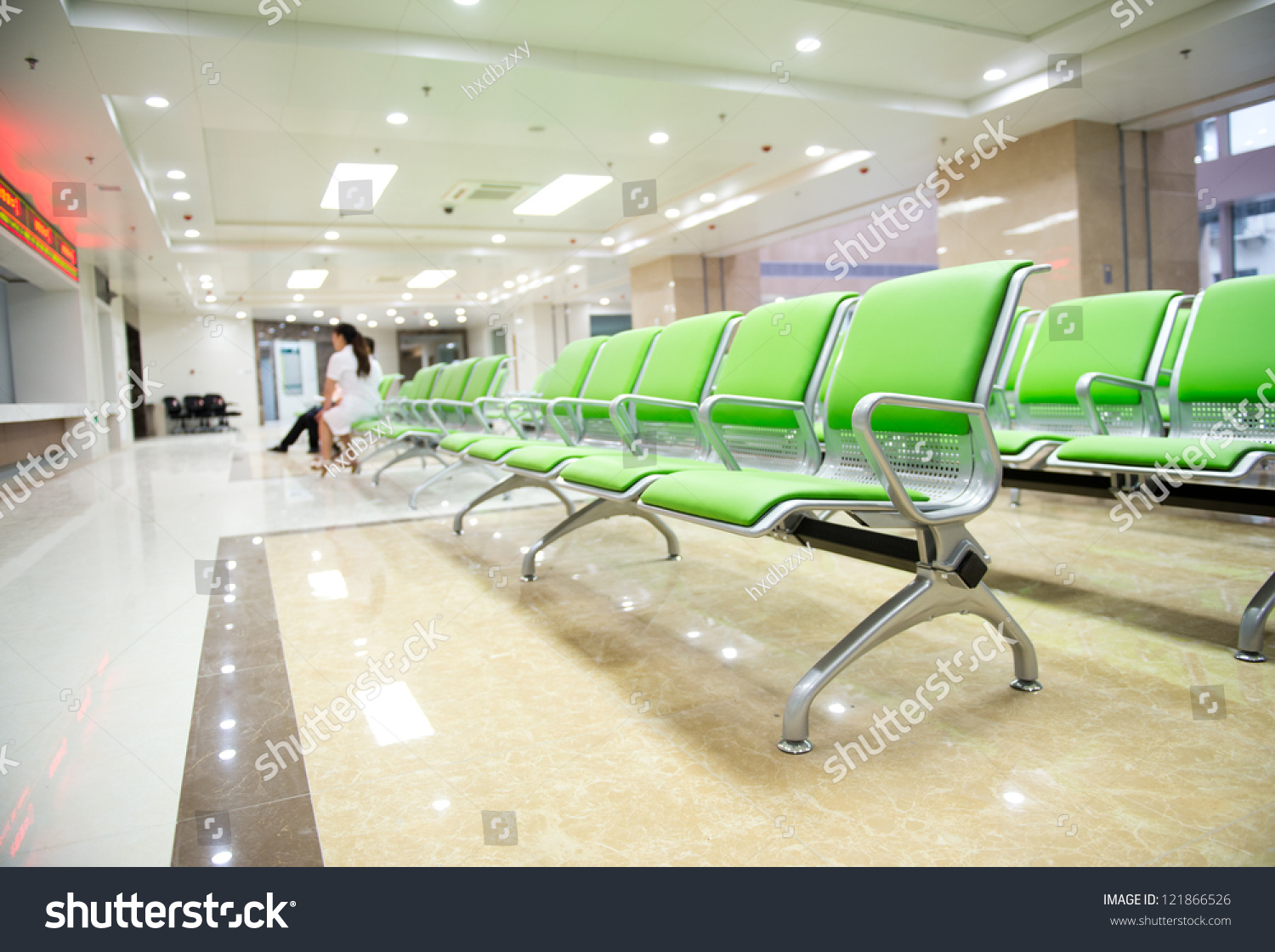 Empty chair in room - Hospital Waiting Room With Empty Chairs