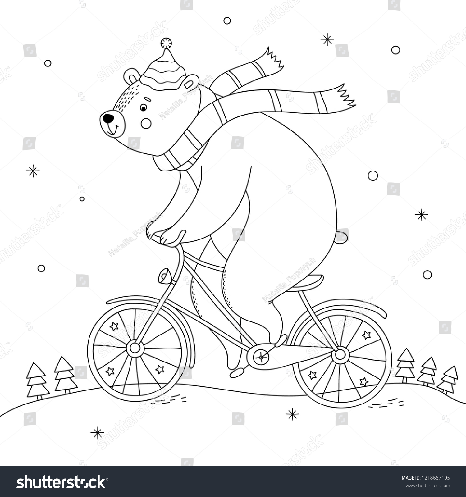 Free Printable Christmas Polar Bear Coloring Page - Get Coloring Pages | 1600x1500