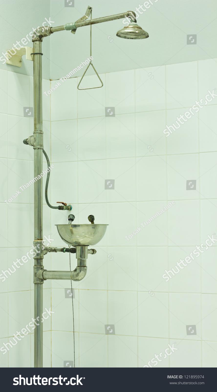 Emergency Safety Shower Laboratory Room Stock Photo (Royalty Free ...