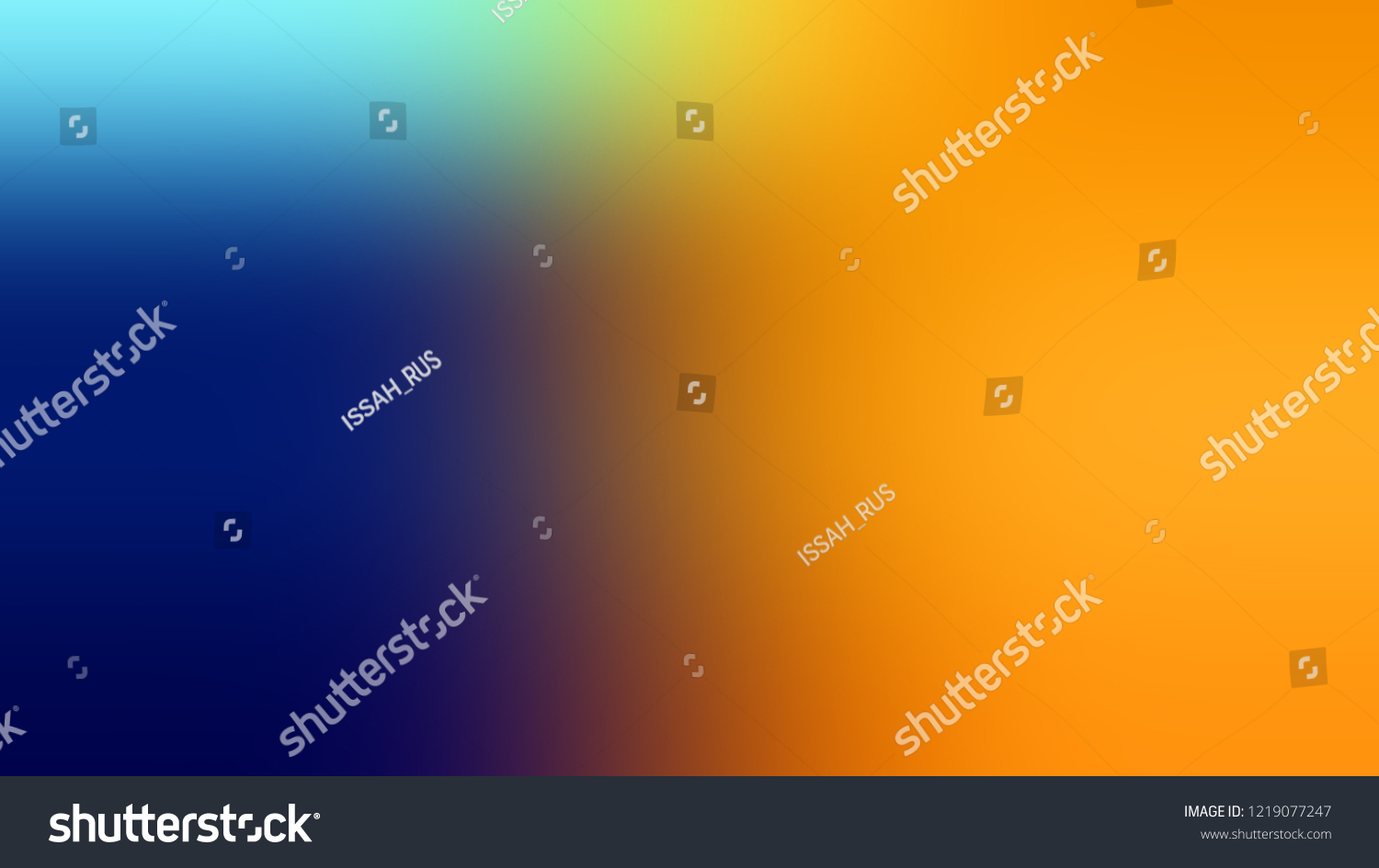 Gradient Gamboge Yellow Midnight Blue Color Stock