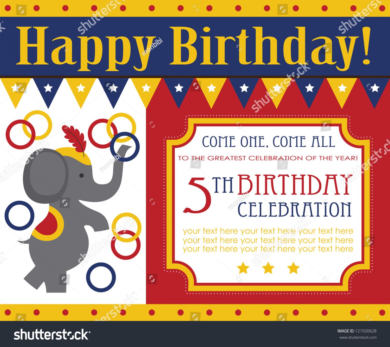 Kid birthday invitation card design vector stock vector 121920628 kid birthday invitation card design vector illustration stopboris Gallery