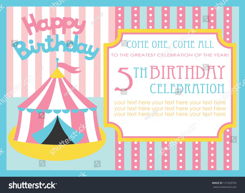 Kid Birthday Invitation Card Design Vector Vector 121920703 – Kid Birthday Invitation