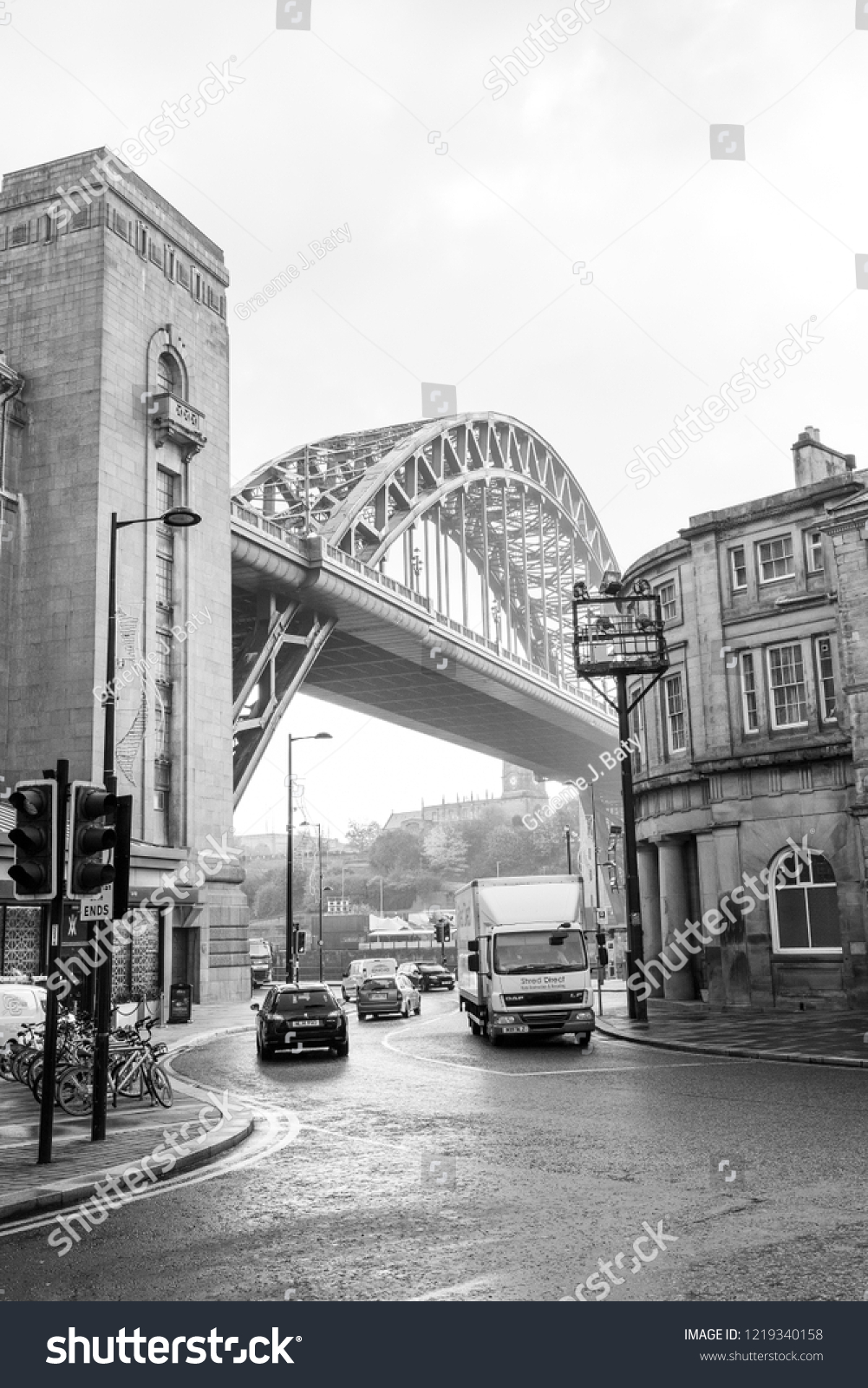 Newcastle upon tyne england 10 10 2018 tyne bridge on a