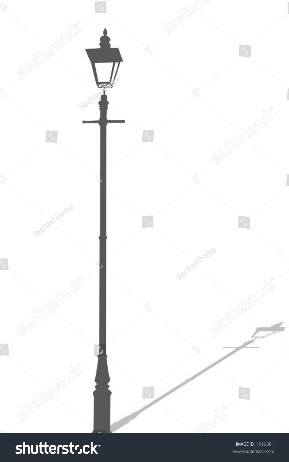 Lamp Post Vector Illustration Stock Vector 1219501 - Shutterstock for Street Lamp Post Vector  110zmd
