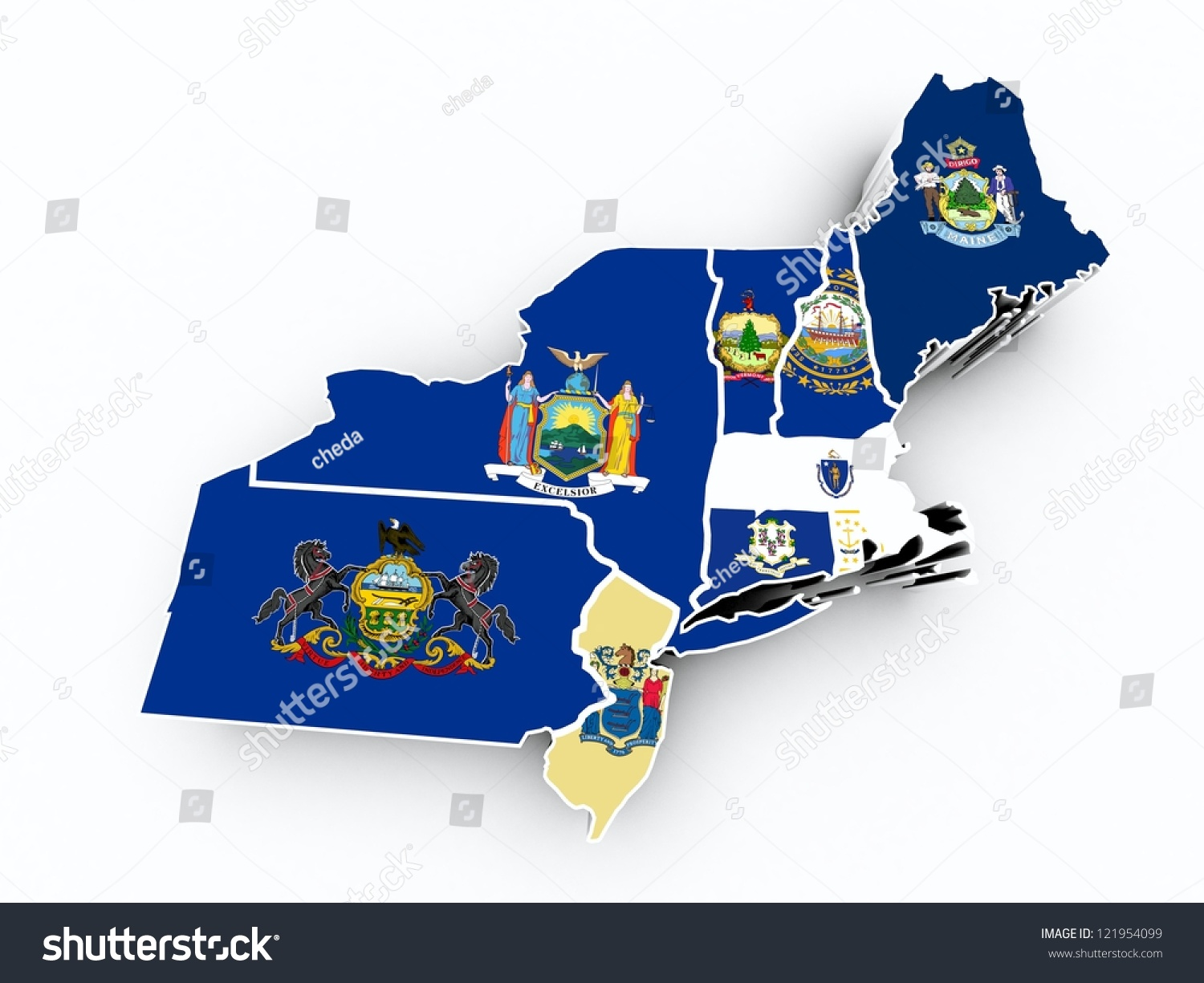 map of new jersey and york border with Stock Photo Northeast Region State Flags On D Map on Lake Mohave further New York Airports besides United States moreover Small Town Road Trip Or furthermore Florida Road Trips North South.