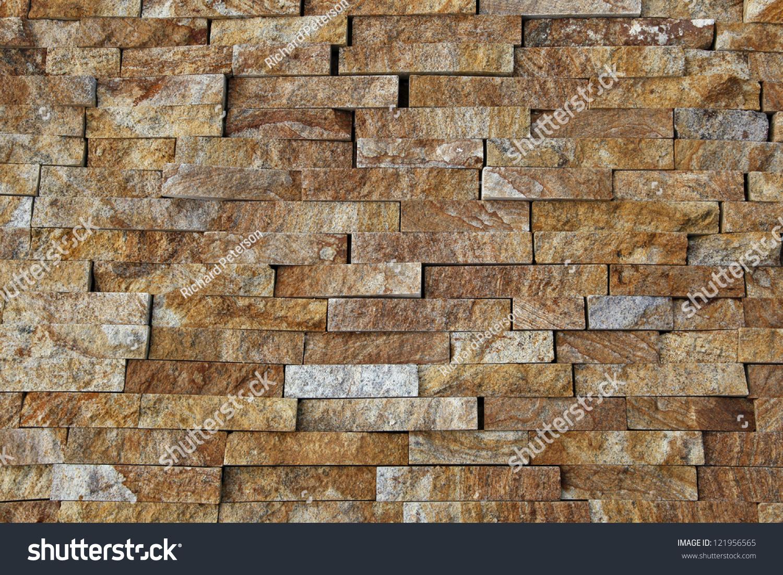Natural Stone Pieces Tiles Walls Stock Photo (Royalty Free ...