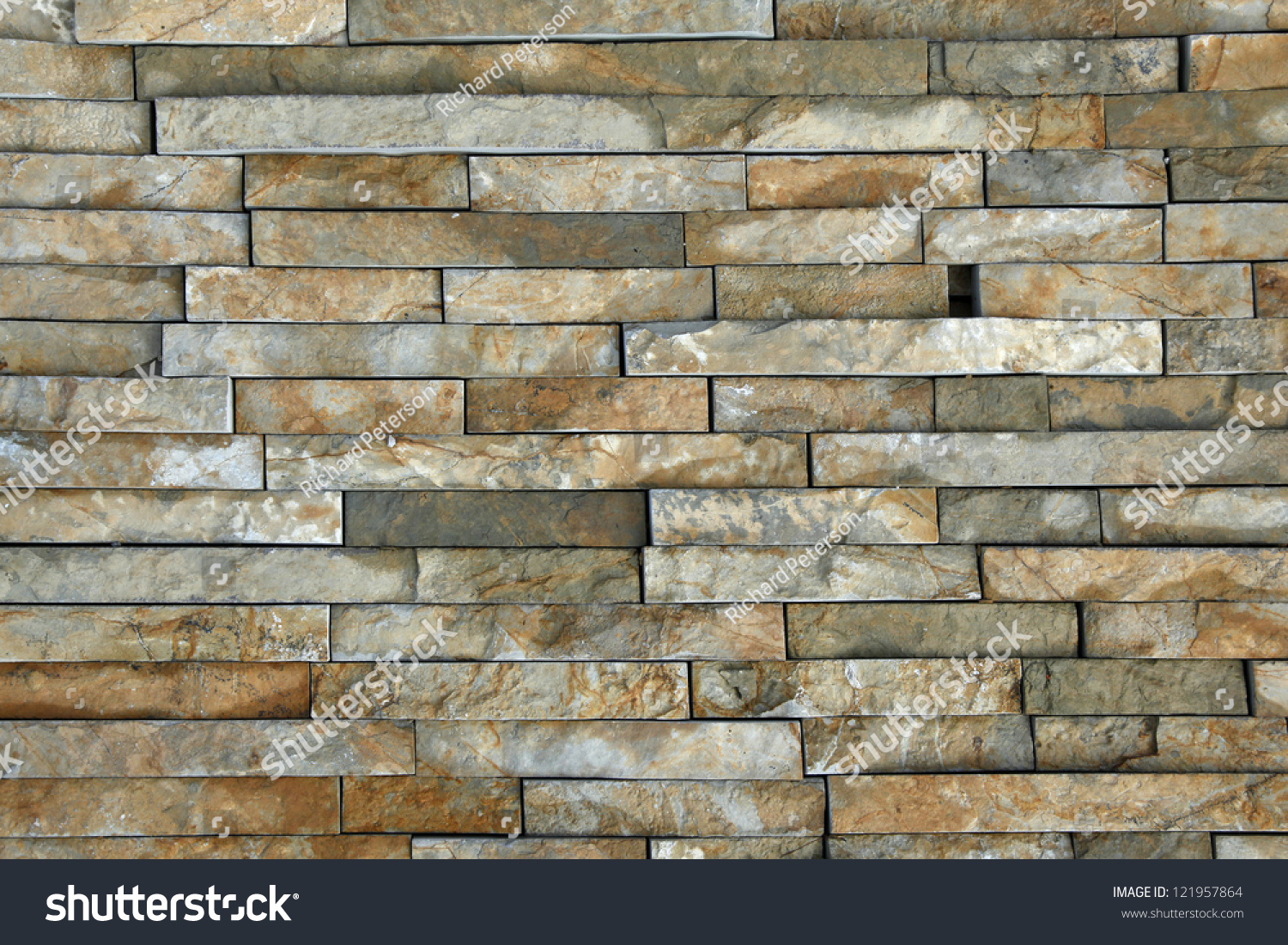 Natural Stone Pieces Tiles Walls Stock Photo (Edit Now) 121957864 ...