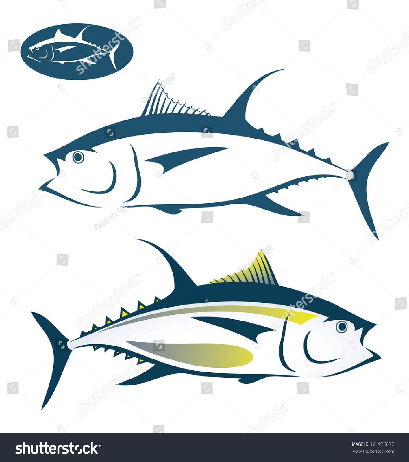 Tuna Fish Vector Illustration Stock Vector 121976677 - Shutterstock