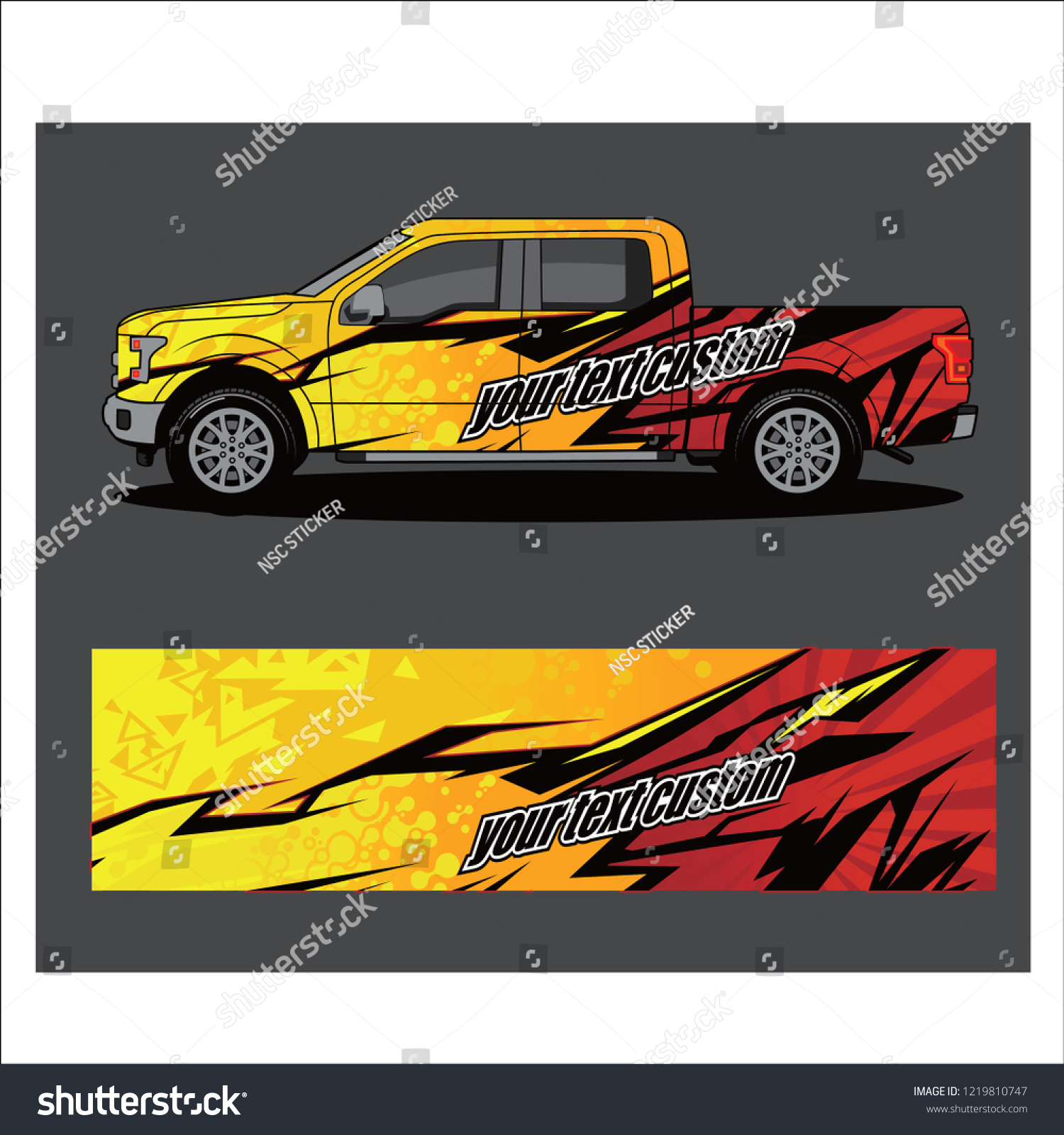 Truckcar and vehicle abstract racing graphic kit background for wrap and vinyl sticker