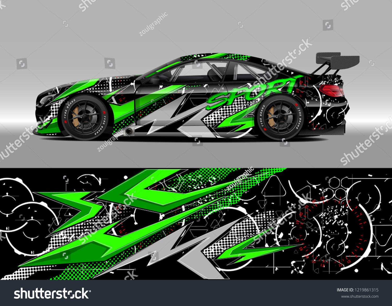 Racing Car Wrap Design Vector Graphic Stock Vector (Royalty