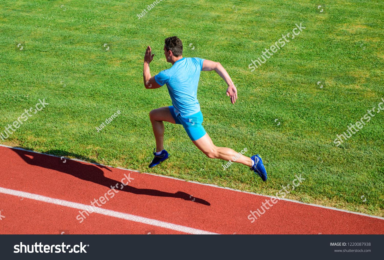 f358f384d8 Runner Captured Midair Short Distance Running Stock Photo (Edit Now ...