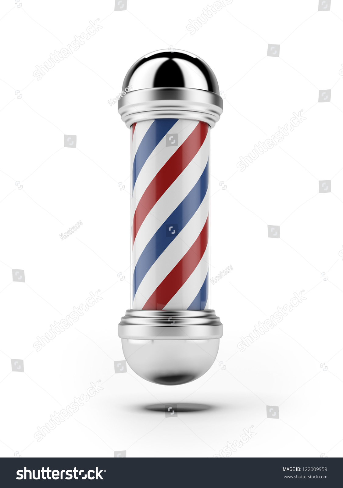 Barber Background : Classic Barber Shop Pole Isolated On A White Background Stock Photo ...