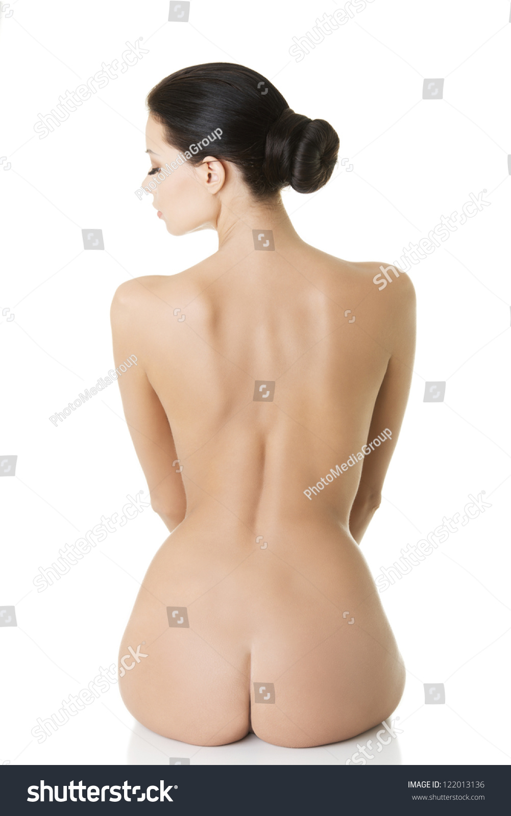 naked women from back