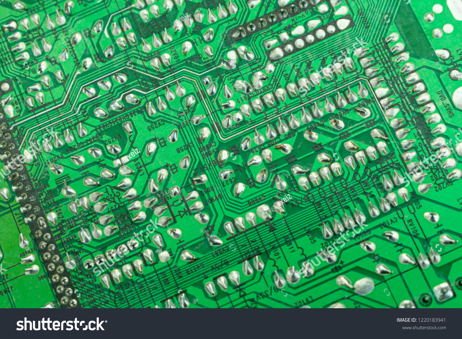 Radio Components On Board Tv Closeup Stock Photo Edit Now Circuit Boardtv Amplifier Buy Pcb The Of Close Up Reverse Side