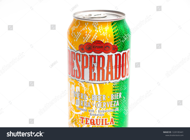 Genevaswitzerland090918 Desperados Flavored Beer Tequila Can Stock Photo Edit Now 1220185441