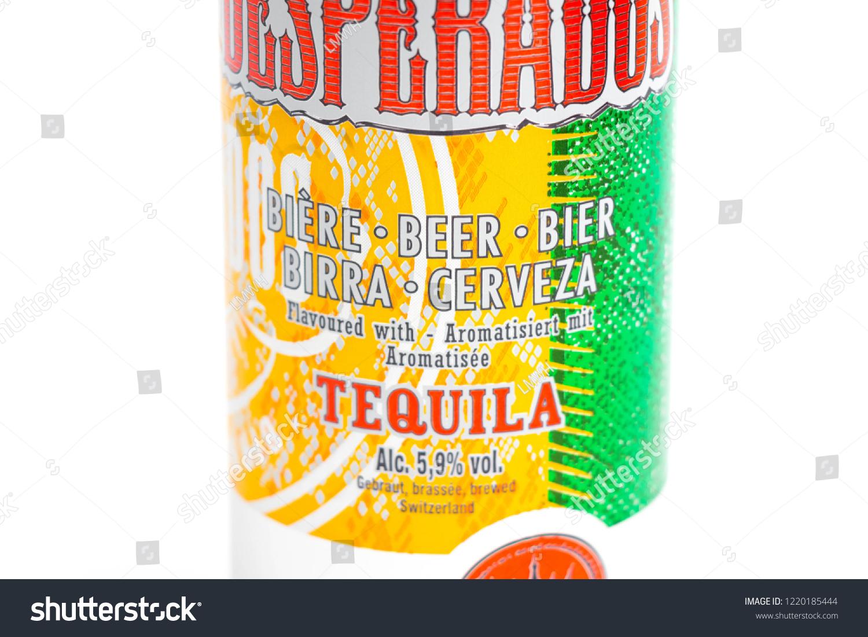 Genevaswitzerland090918 Desperados Flavored Beer Tequila Can Stock Photo Edit Now 1220185444