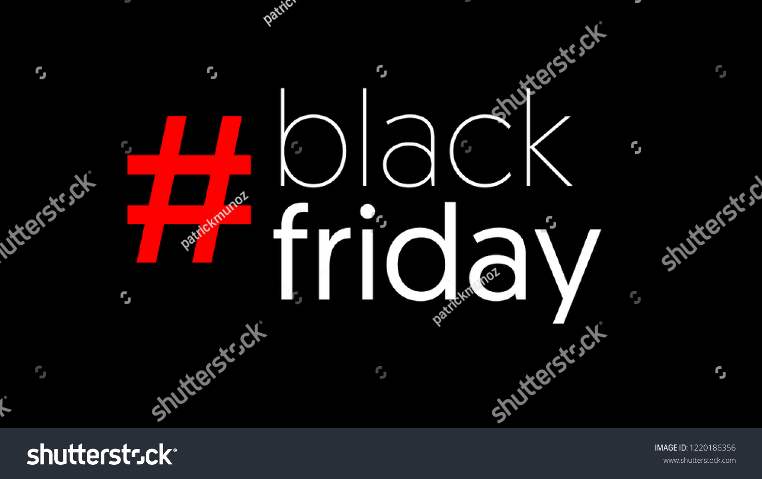 Black Friday Sale Banner Hashtag Discount Stock Vector Royalty Free 1220186356