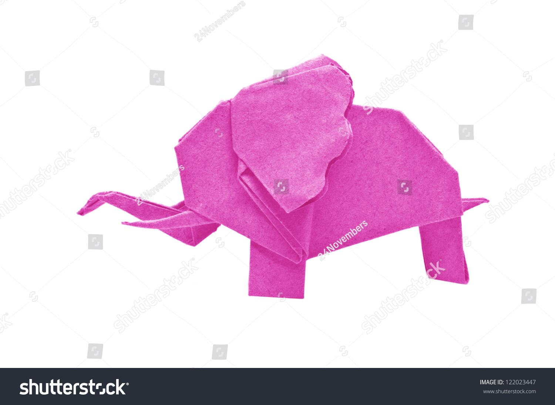 Origami elephant asian recycle pink paper stock photo 122023447 the origami elephant asian recycle pink paper isolated on white jeuxipadfo Choice Image