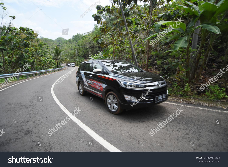 Pacitan Indonesia September   The Latest Toyota Innova Black Car