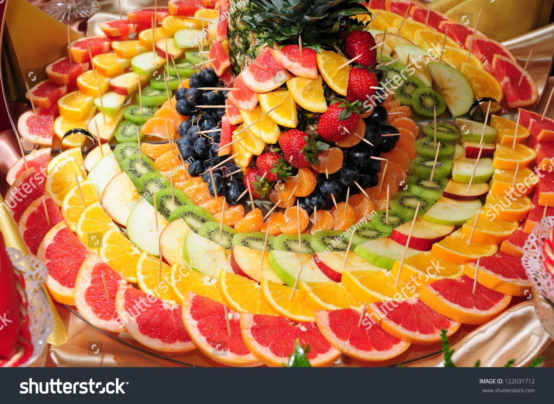 Beautiful fruit pictures - Beautiful Fruit Dessert On A Celebratory Table