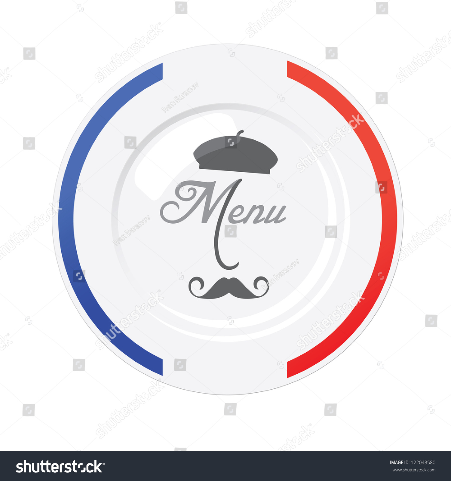 french menu template