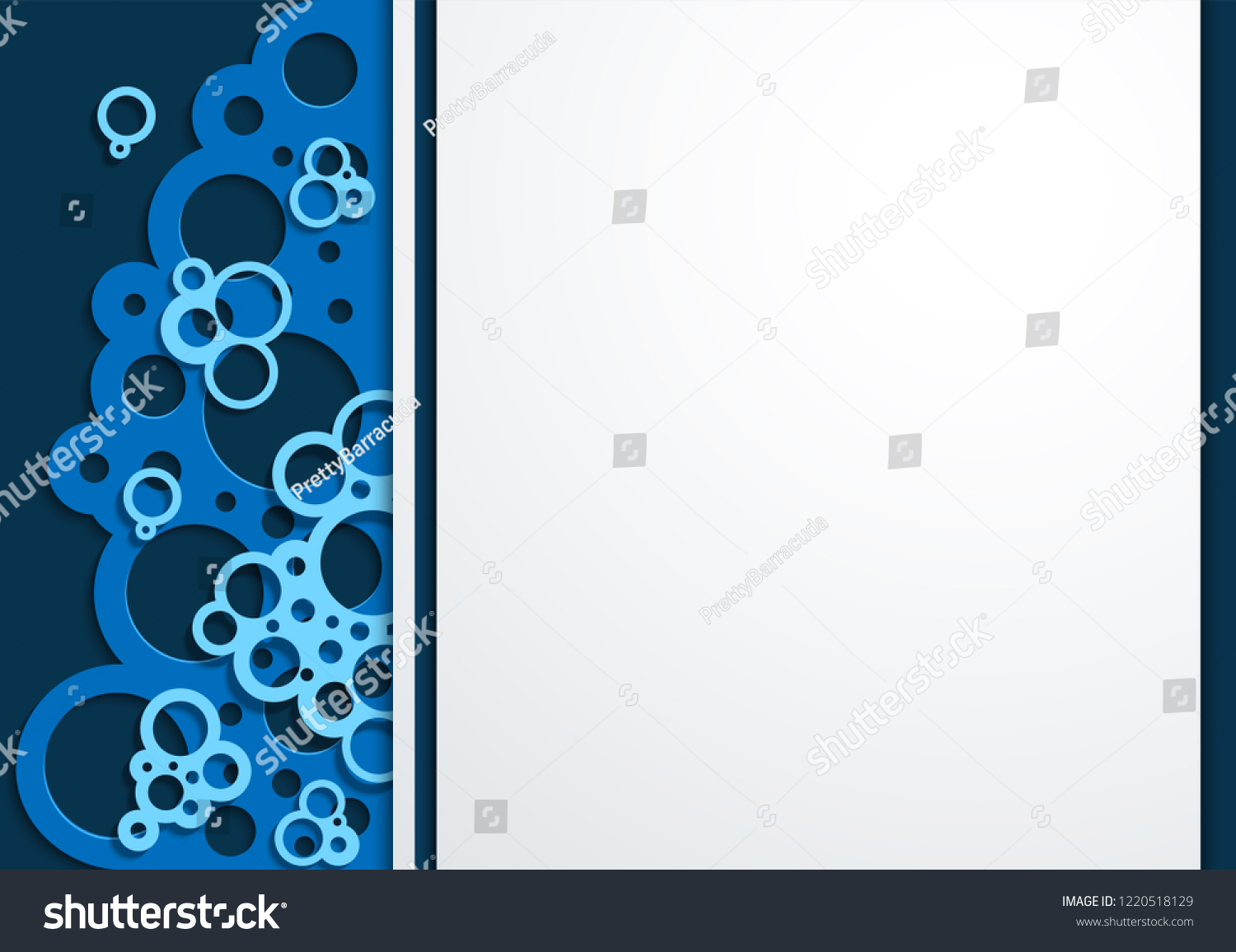 Wallpaper 3d Paper Art With Simple Shapes Template For