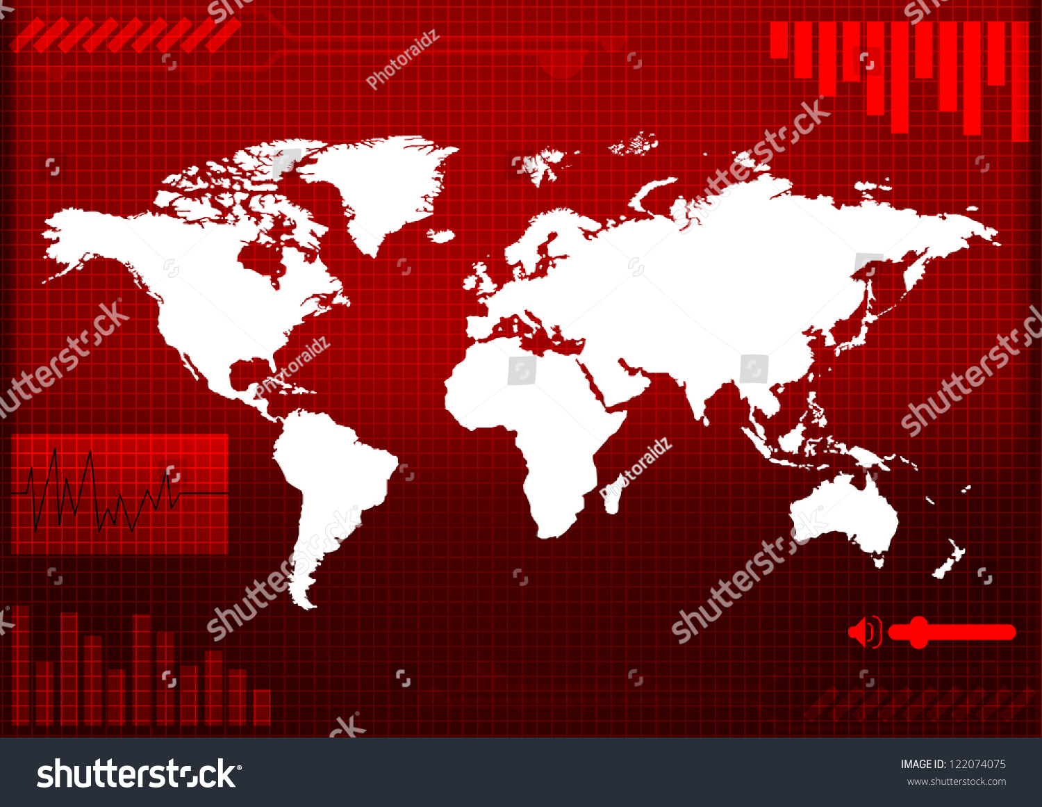World map technologystyle vector stock vector hd royalty free world map technology style of vector gumiabroncs Choice Image
