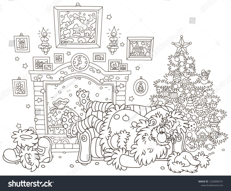 Easy Sleigh Santa Christmas Drawings Hard Www Galleryneed Com