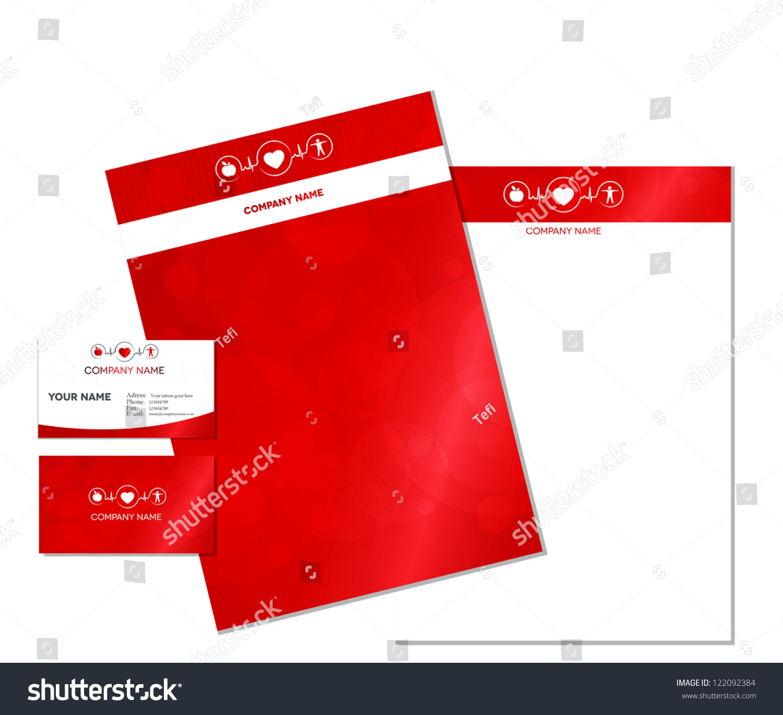 Business Card Letterhead Wellness Symbol Healthy Stock Vector ...