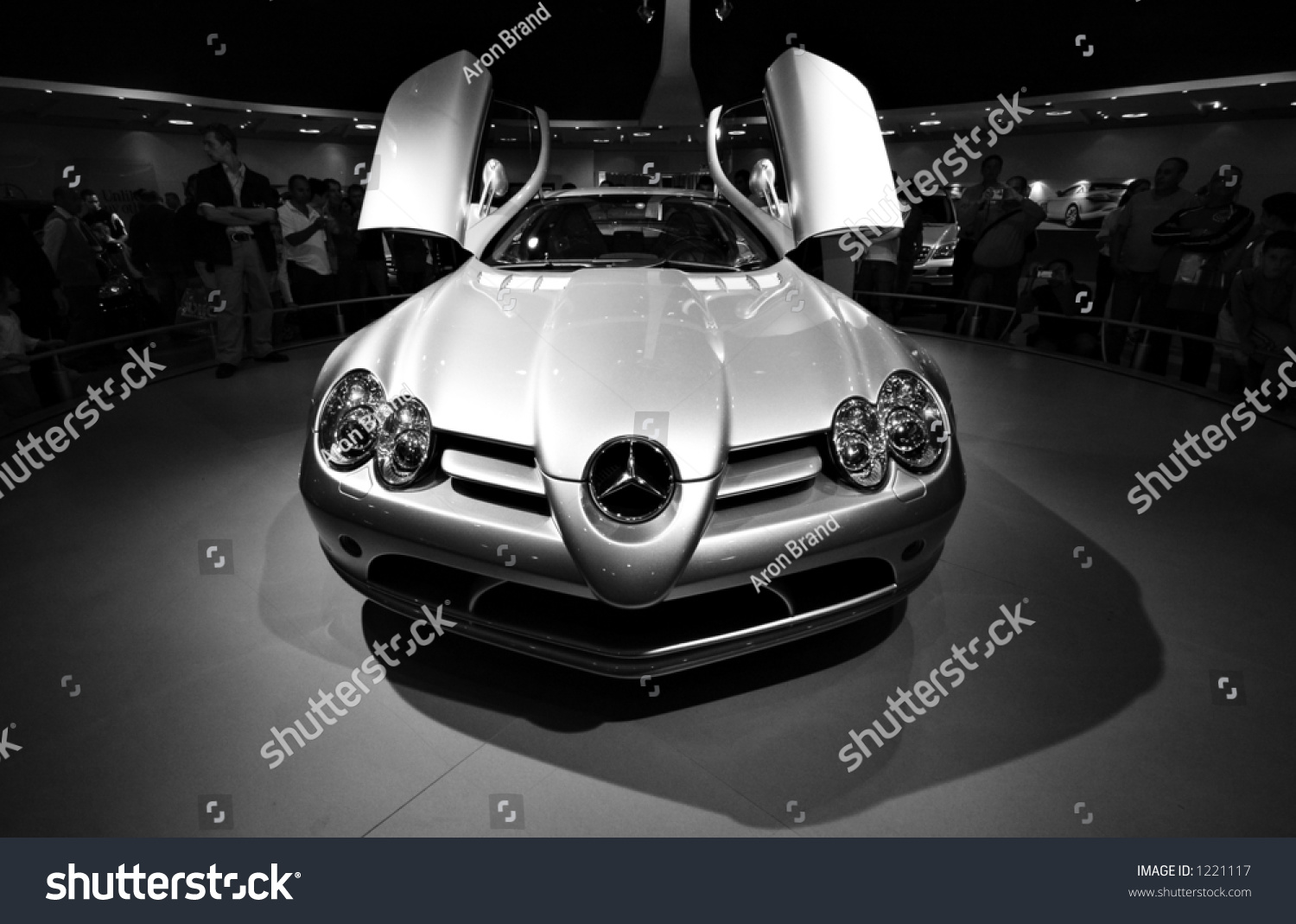 A Mercedes SLR top of the line sports car with seagull doors & Mercedes Slr Top Line Sports Car Stock Photo 1221117 - Shutterstock pezcame.com