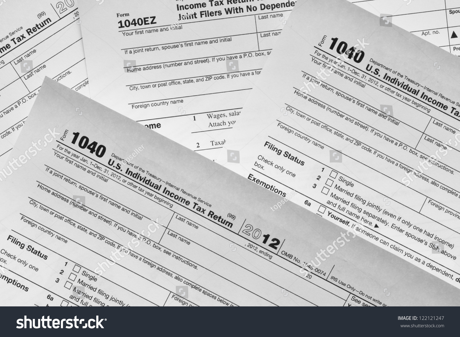 Form 1040 Individual Income Tax Return Form United States Tax Forms