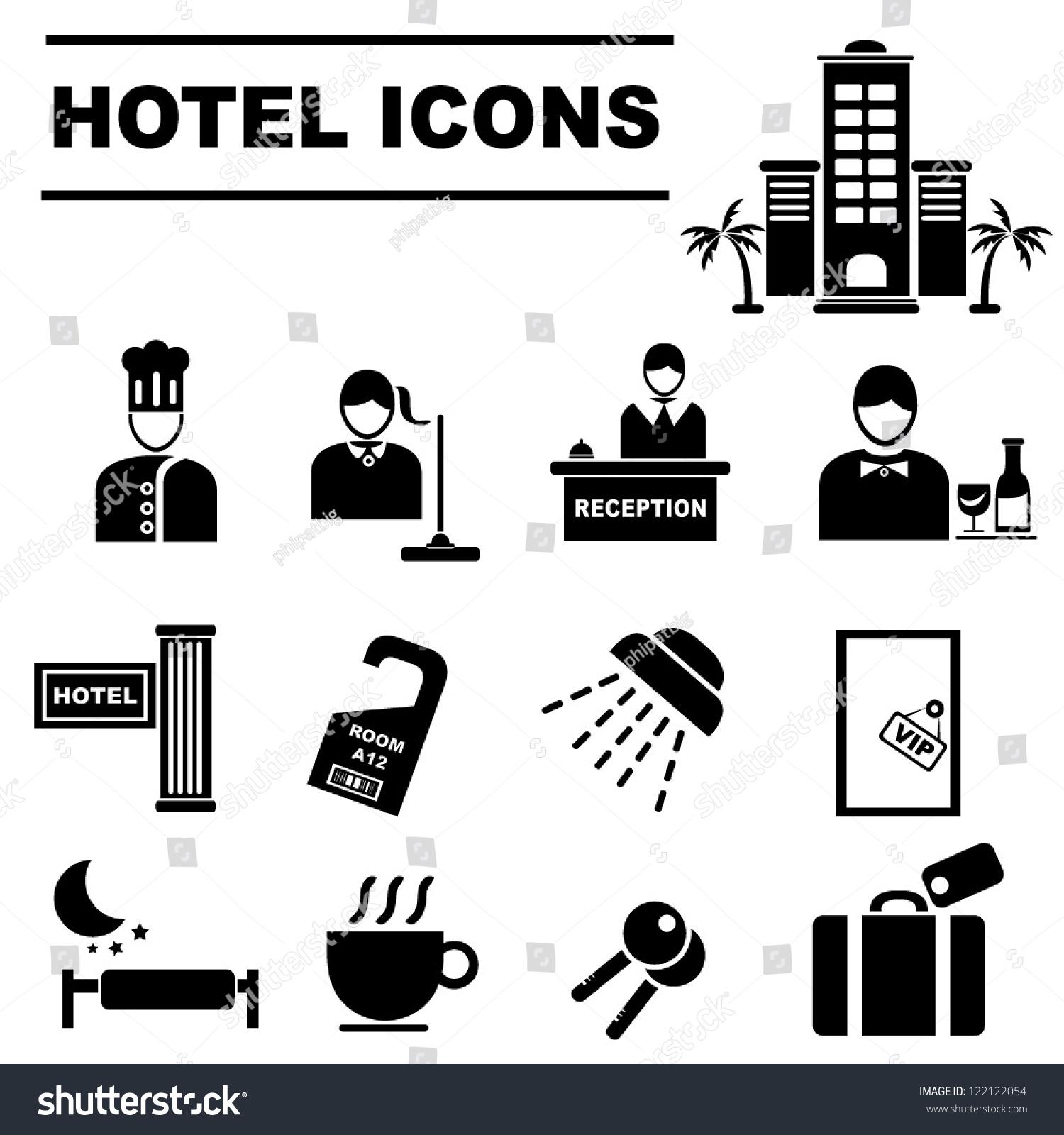Image Gallery hotel icon vector