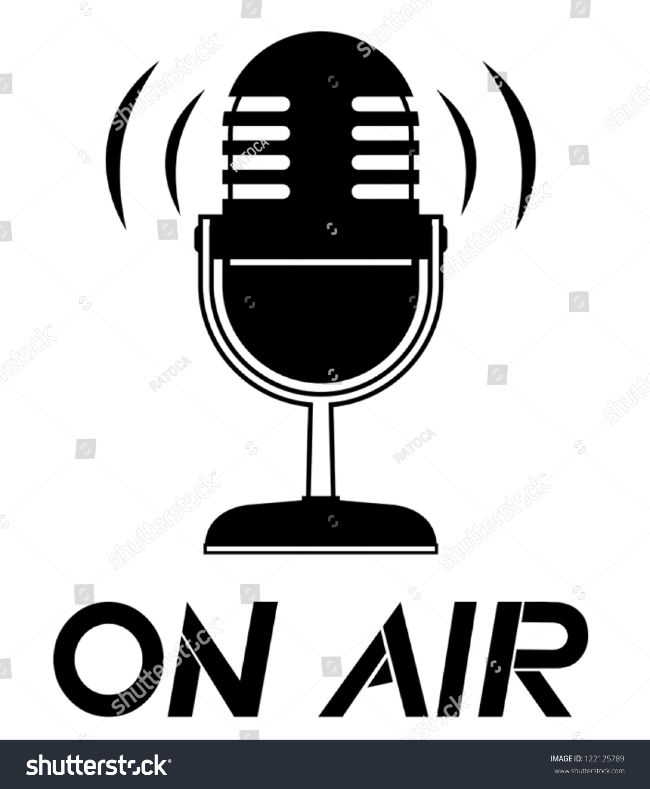 On Air Symbol Stock Vector Royalty Free 122125789 Shutterstock