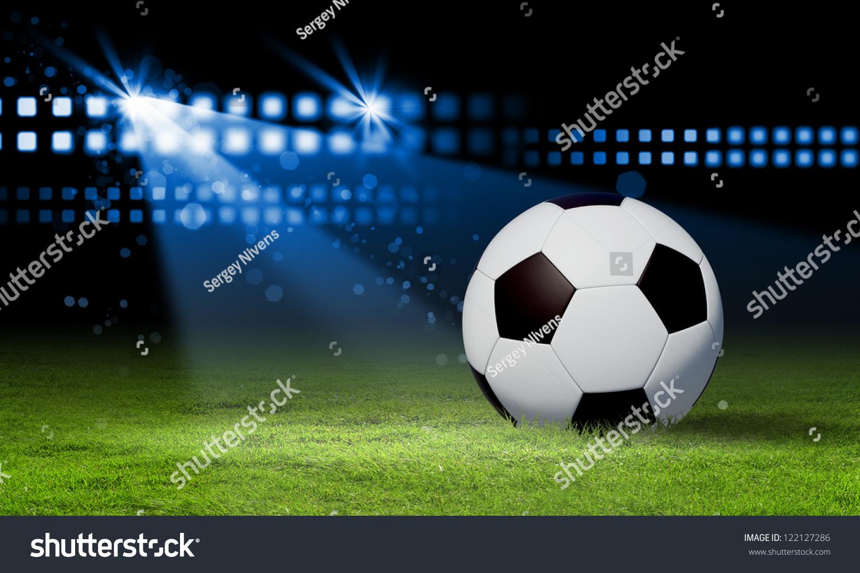 Black White Football Soccer Ball Colour Stock Illustration ...