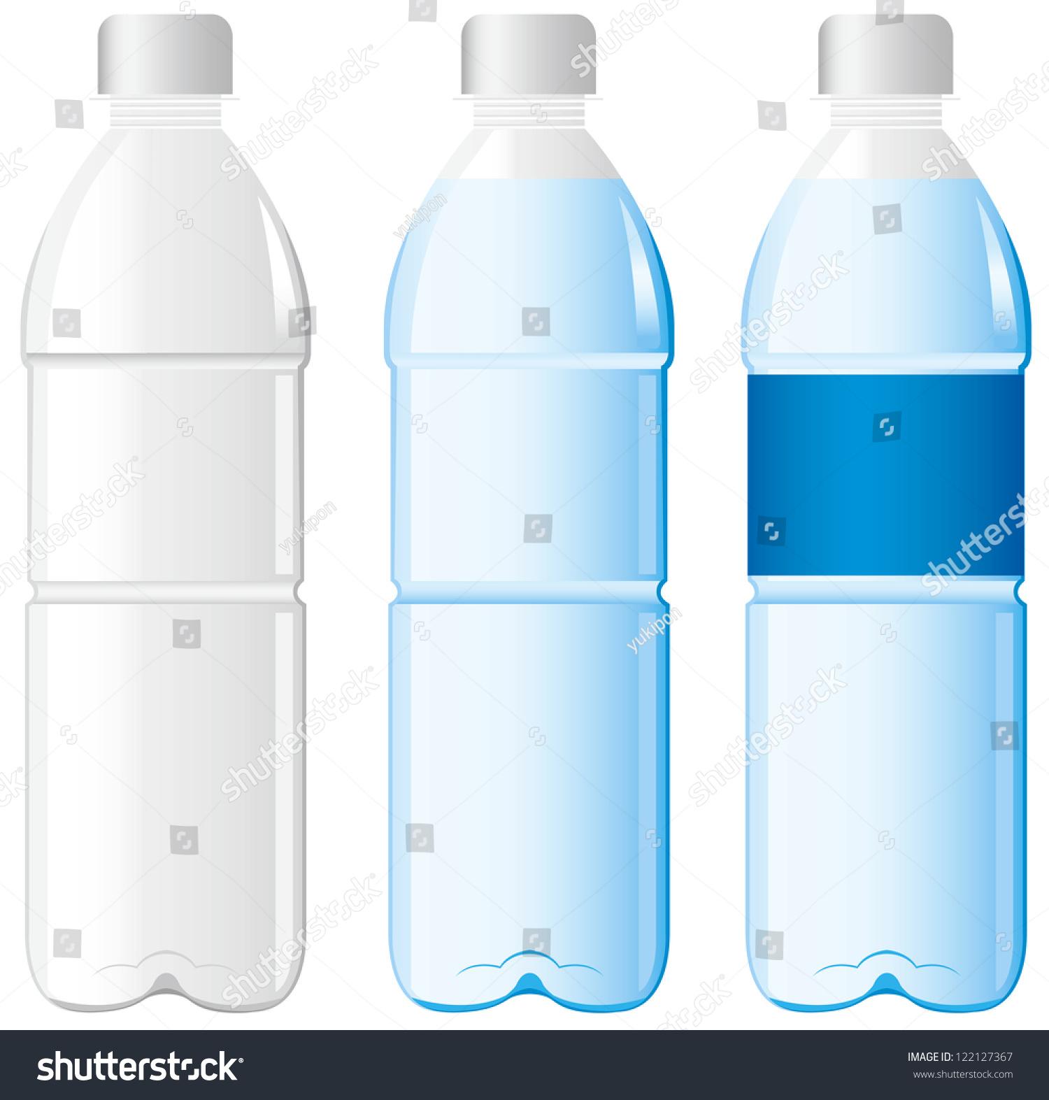 Water Bottle Vector: Plastic Bottle Water Vector Stock Vector 122127367