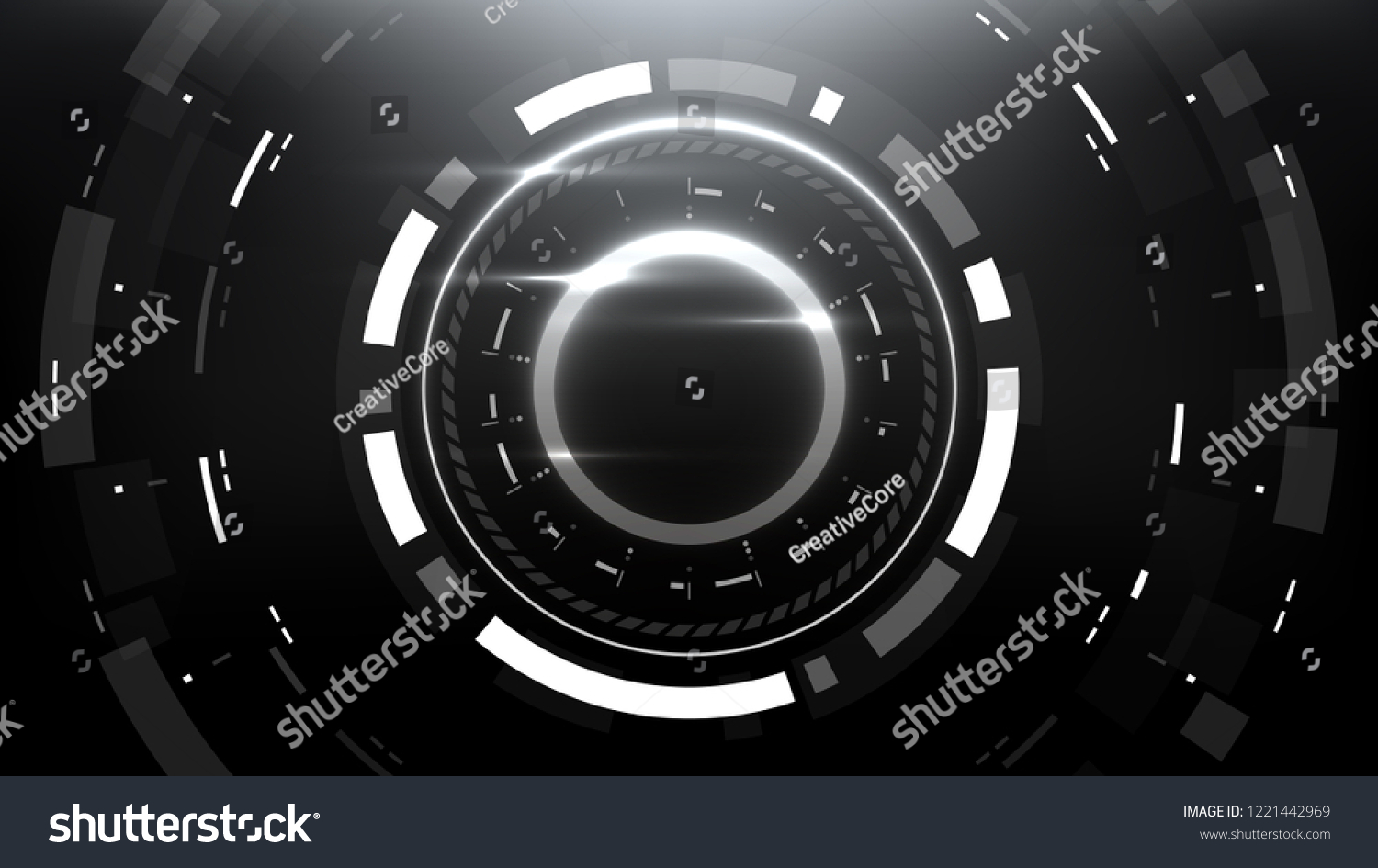Futuristic Technology Abstract Circlular Background Vector Stock