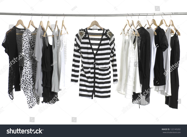 Set Of Fashion Female Clothing Hanging On Hangers Stock Photo 122145202  Shutterstock